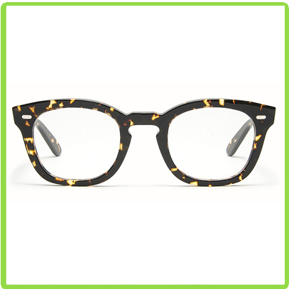 rounded cat eye acetate frames in a rich brown with golden flecks vintage tortoise pattern