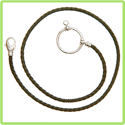 Braided Leather with Sterling Loop