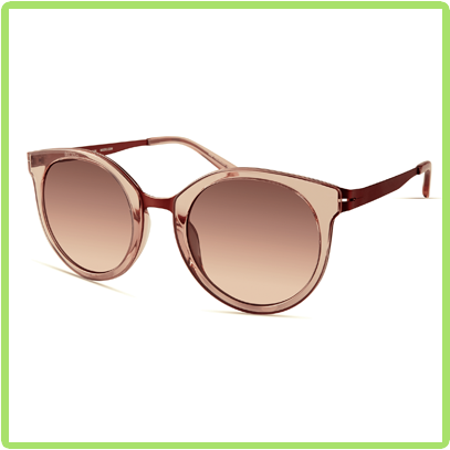tall oval-shaped frames in warm peach acetate with peach lenses